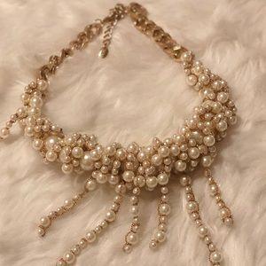 BN Zara Faux White Pearl Necklace Chocker